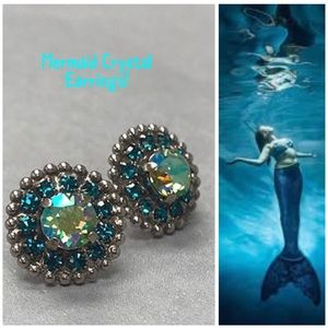 """Sorrelli """"Mermaid"""" Crystal Earring-NWT, Gorgeous!"""
